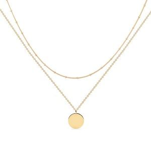 Kohl's 18k Gold Layered Disc Pendant Necklace